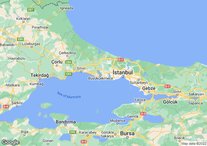 Map for Turkey - Istanbul, Büyükçekmece
