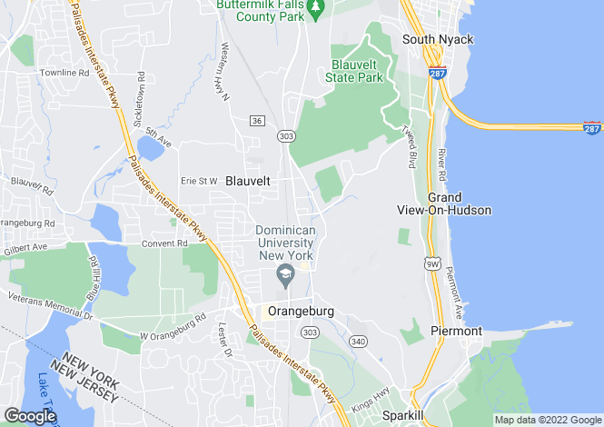 Map for USA - New York, Rockland County, Blauvelt