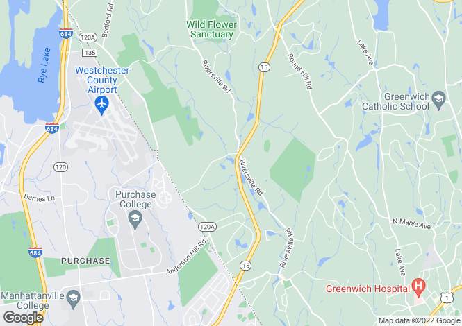 Map for USA - Connecticut, Fairfield County, Greenwich
