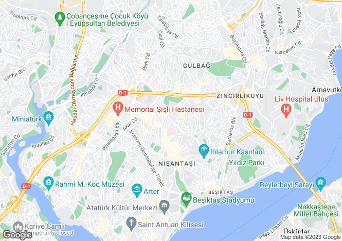 Map for Istanbul, Sisli, Sisli