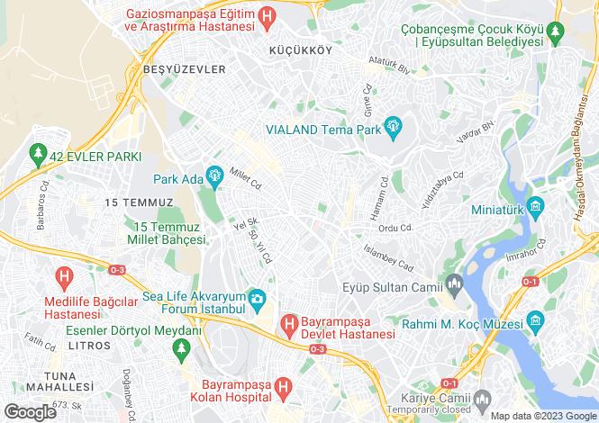 Map for Gaziosmanpasa, Gaziosmanpasa, Istanbul