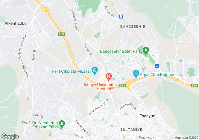 Map for Istanbul, Bahcesehir