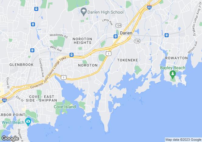 Map for USA - Connecticut, Fairfield County, Darien