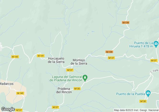 Map for Madrid, Madrid, Montejo de la Sierra