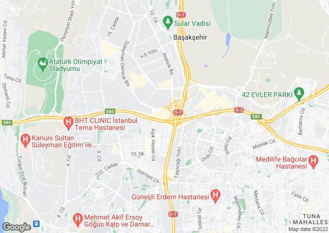 Map for Bagcilar, Istanbul