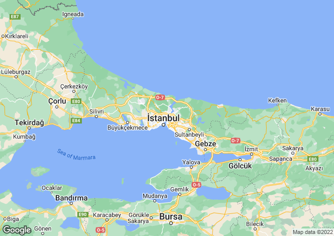 Map for Istanbul, Besiktas