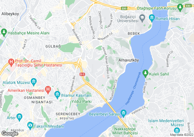 Map for Besiktas, Besiktas, Istanbul