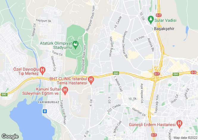 Map for Bahcesehir, Istanbul