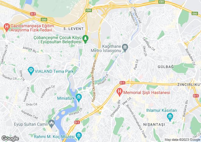 Map for Istanbul, Kagithane, Kagithane