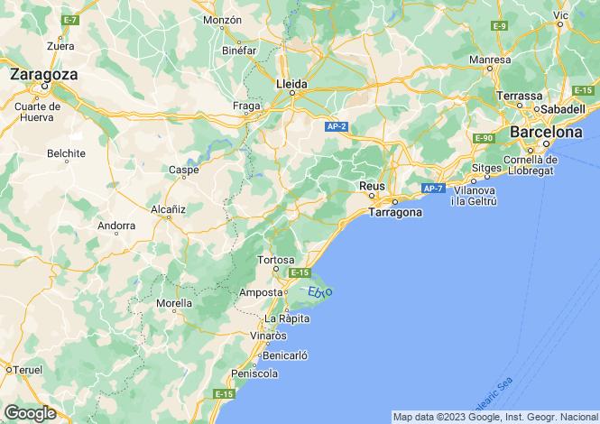 Map for Catalonia, Tarragona
