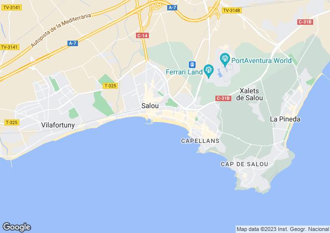 Map for Catalonia, Tarragona, Salou