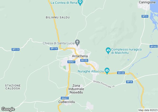 Map for Villa Costanza, Porto Cervo, Sardinia, Italy