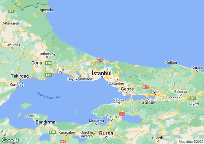 Map for Istanbul, Kagithane