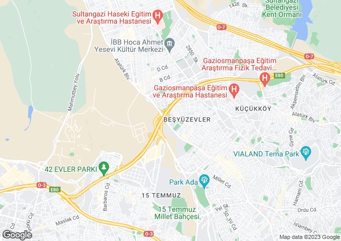 Map for Istanbul, Gaziosmanpasa, Gaziosmanpasa