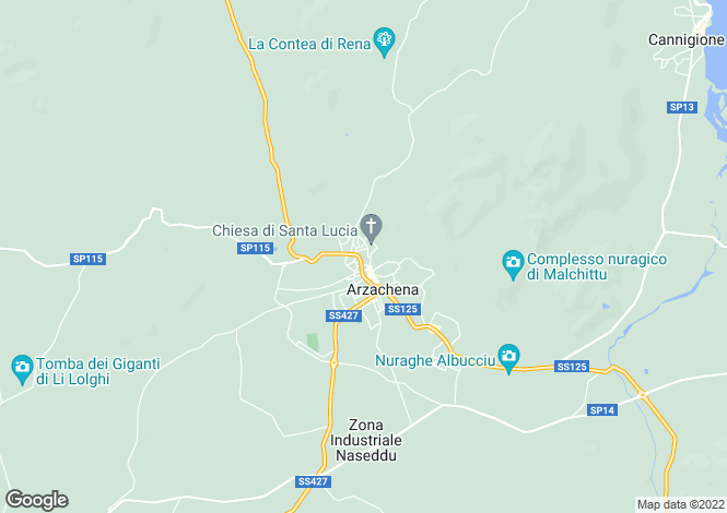 Map for Sardinia, Sassari, Arzachena