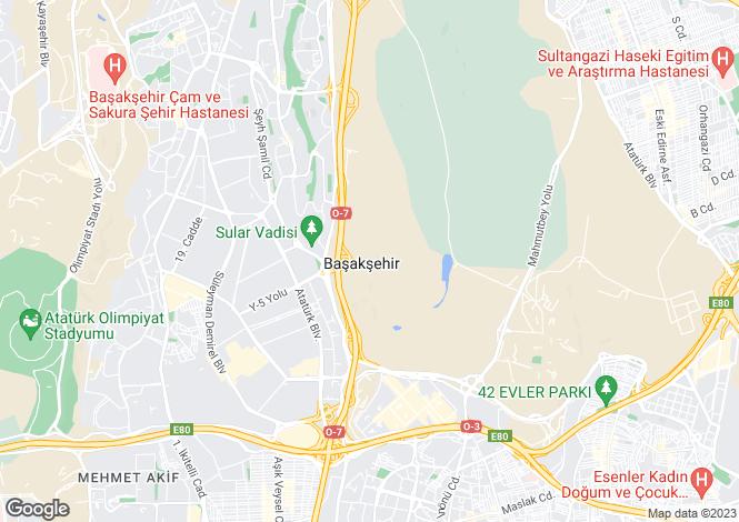 Map for Istanbul, Güngören, Istanbul