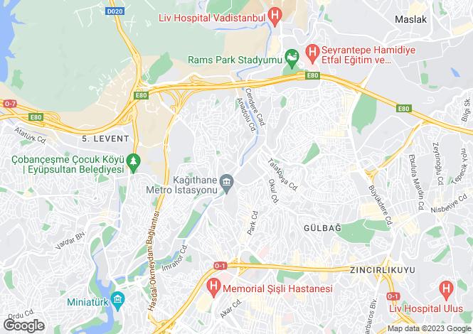 Map for Kagithane, Kagithane, Istanbul