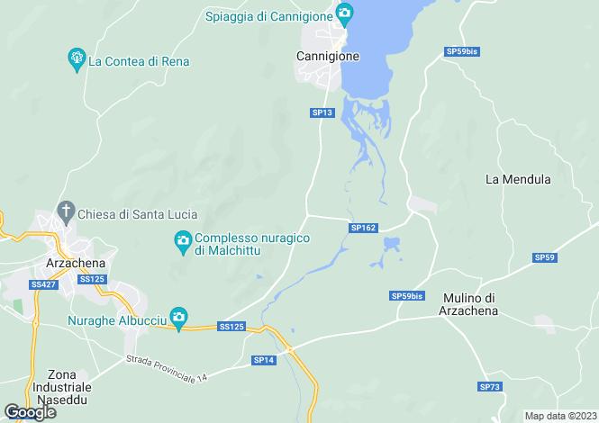 Map for Arzachena, Sassari, Sardinia