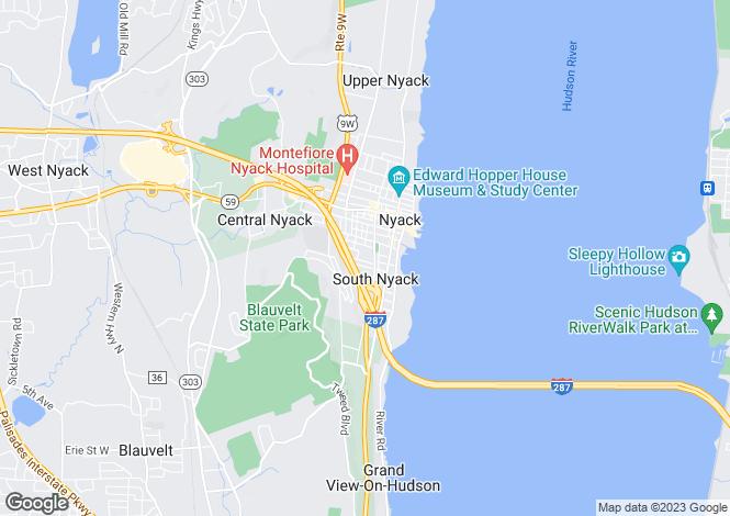 Map for USA - New York, Rockland County, Nyack