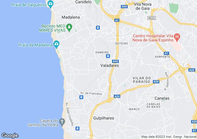 Map for Oporto, Vila Nova de Gaia