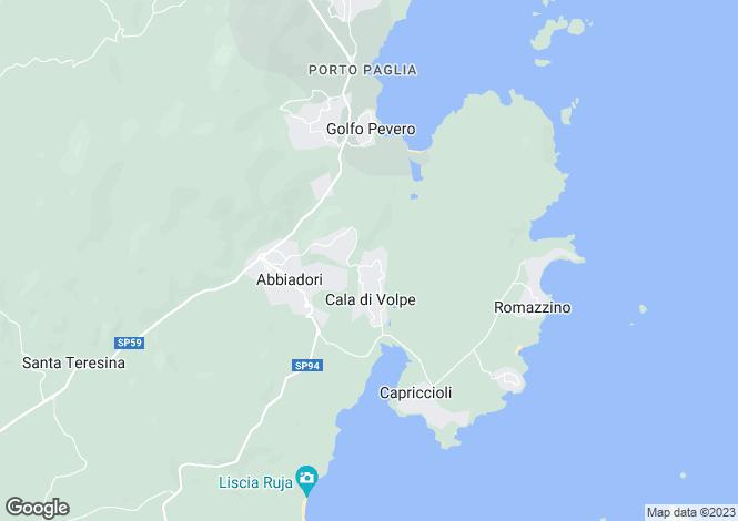 Map for Sardinia, Sassari, Porto Cervo