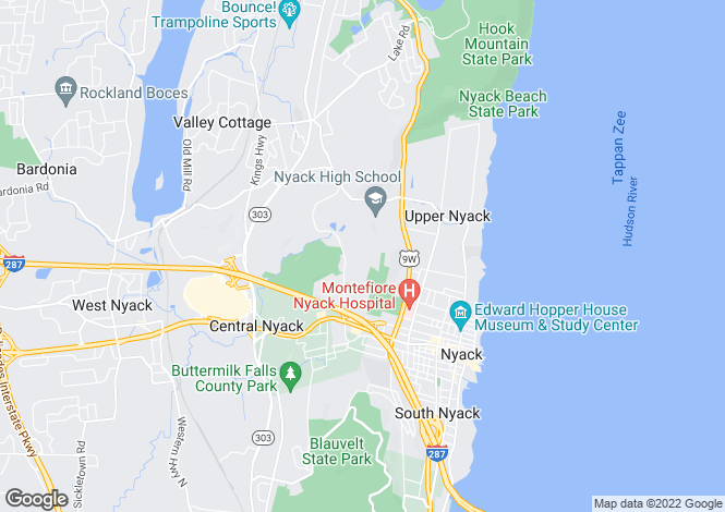 Map for USA - New York, Rockland County, Valley Cottage