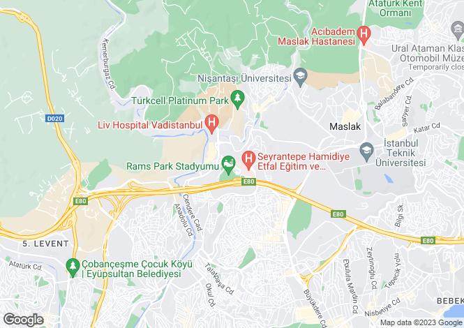 Map for Sariyer, Sariyer, Istanbul