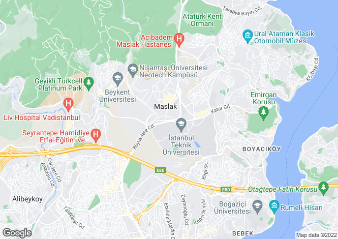 Map for Maslak, Istanbul