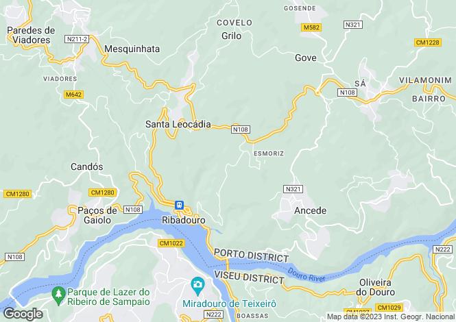 Map for Oporto, Baião