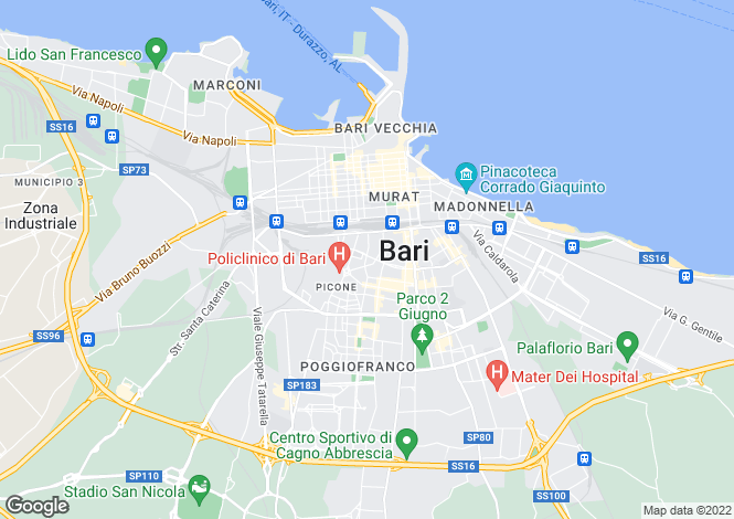 Map for Bari, Bari, Apulia