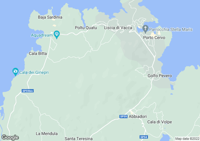 Map for San Teodoro, Olbia-tempio, Sardinia
