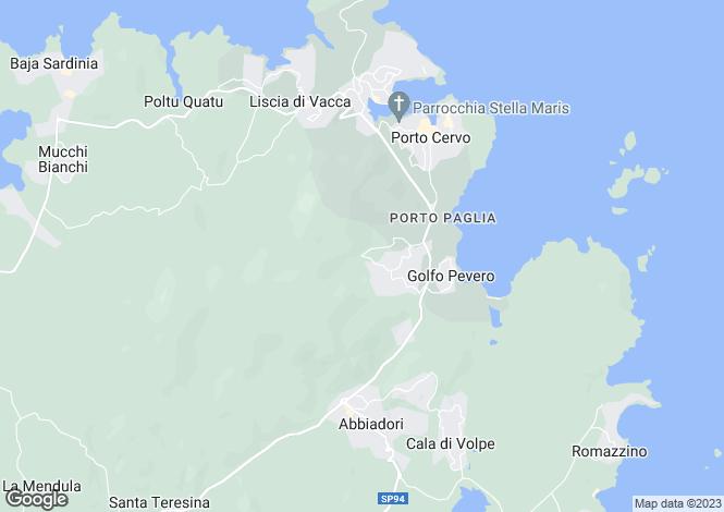 Map for Sardinia, Olbia-tempio, Arzachena