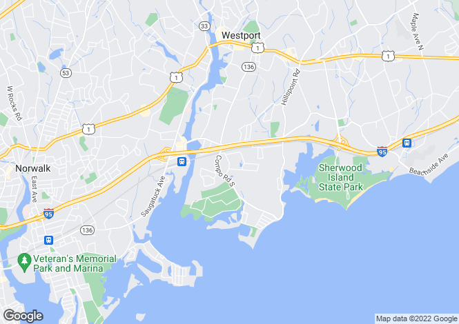 Map for USA - Connecticut, Fairfield County, Westport