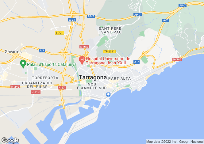 Map for Tarragona, Tarragona, Catalonia