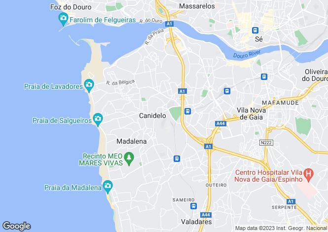 Map for Canidelo, Vila Nova de Gaia, Porto
