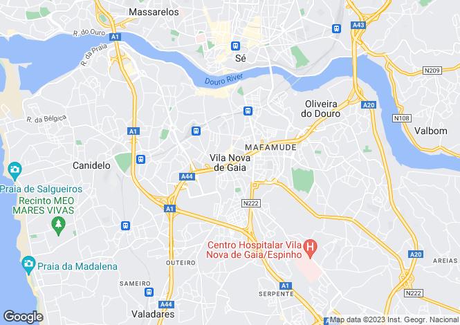 Map for Investment Property, Vila Nova de Gaia, Porto