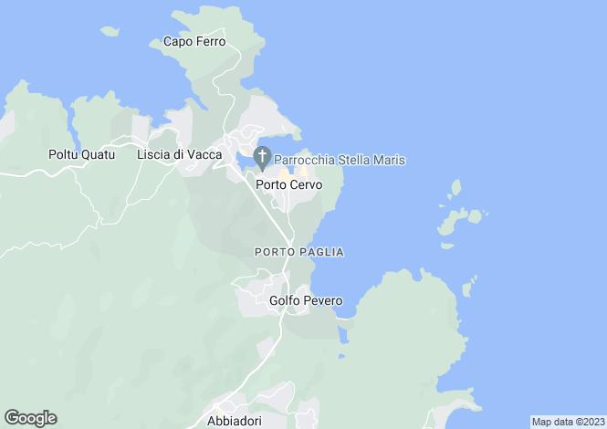 Map for Villa Pantogia, Porto Cervo, Sardinia