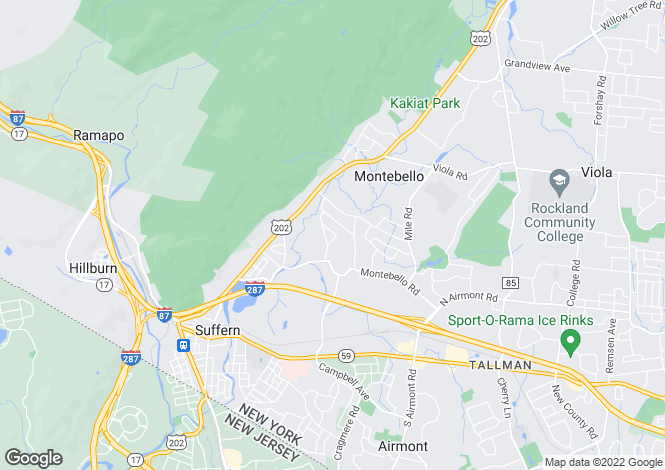 Map for USA - California, Los Angeles County, Montebello