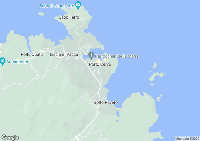 Map for Porto Cervo, Olbia-Tempio, Italy