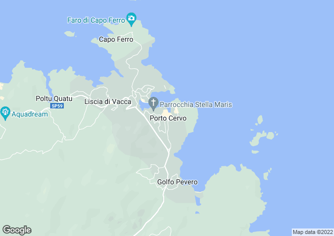 Map for Porto Cervo, Sardinia, Italy
