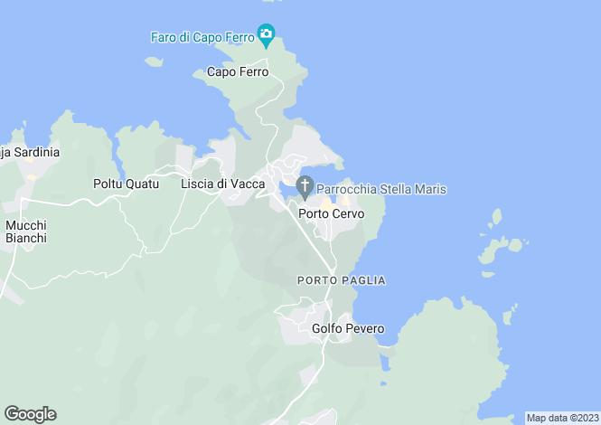 Map for Arzachena, Olbia-tempio, Sardinia