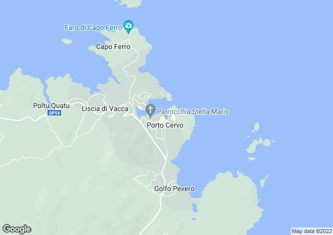 Map for Sardinia, Sassari, Porto Cervo