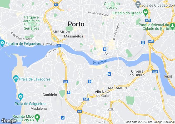 Map for Vila Nova de Gaia, Porto, Portugal, 4400-161