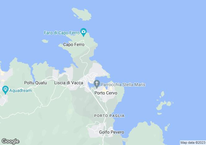 Map for Porto Cervo, Sardegna, Italy