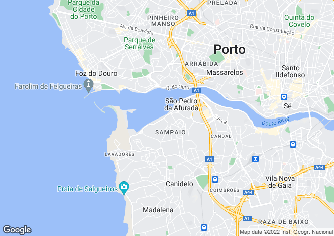 Map for Apartment In Great Location, Canidelo, Porto