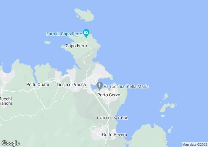 Map for Italy - Sardinia, Sassari, Porto Cervo