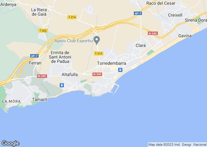 Map for Catalonia, Tarragona, Torredembarra