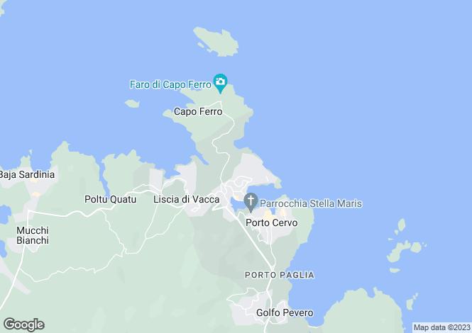 Map for Villa Pantogia, Porto Cervo, Costa Smeralda, Sardinia