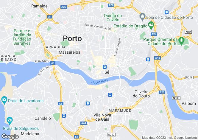 Map for Oporto, Oporto