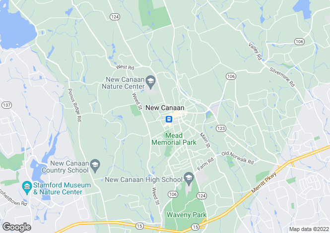 Map for USA - Connecticut, Fairfield County, New Canaan